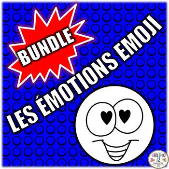FRENCH: Les Émotions Emoji  BUNDLE