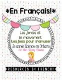 FRENCH: Les forces et le mouvement  Grade 3 Ontario Scienc