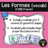 FRENCH Les formes (Vocabulary) (Kindergarten to Grade 5 CORE French)