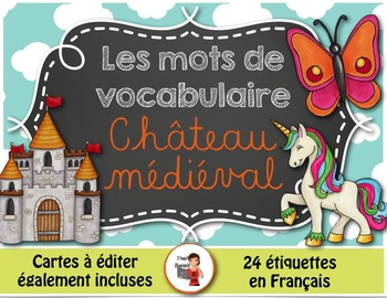 Mots de vocabulaire CHÂTEAU MÉDIÉVAL/24 affiches