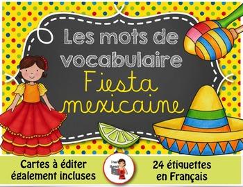 Mots de vocabulaire FIESTA MEXICAINE/24 affiches