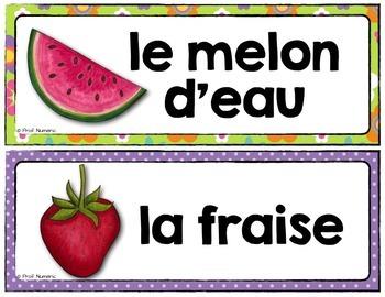 Mots de vocabulaire FRUITS ET LÉGUMES/24 affiches