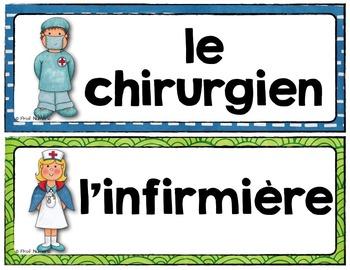 Mots de vocabulaire HÔPITAL/24 affiches