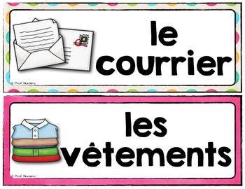 Mots de vocabulaire LA MAISON/24 affiches