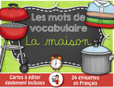 FRENCH VOCABULARY CARDS LA MAISON - Mots de vocabulaire - script et cursif