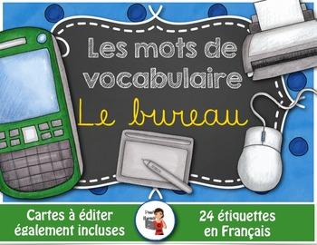 Mots de vocabulaire LE BUREAU/24 affiches