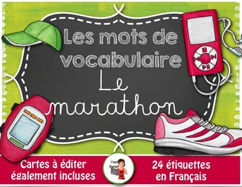 Mots de vocabulaire LE MARATHON/24 affiches