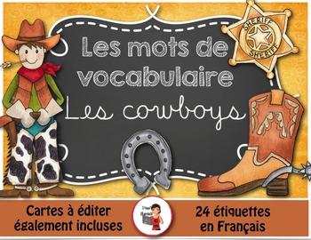 Mots de vocabulaire LES COWBOYS/24 affiches