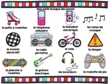 Mots de vocabulaire LES JEUNES/24 affiches