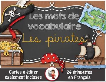 Mots de vocabulaire LES PIRATES/24 affiches