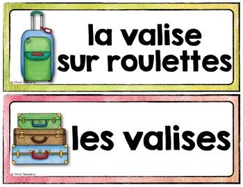 Mots de vocabulaire LES VOYAGES/24 affiches