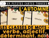 CLASSES DE MOTS Petites cartes trouées (poke card)