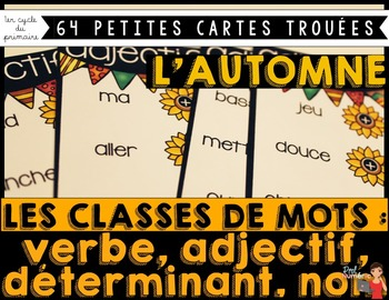 CLASSES DE MOTS Petites cartes trouées (poke card)