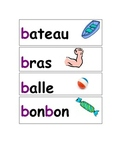 FRENCH Letter Sounds Word Wall or Key Ring Flash Cards
