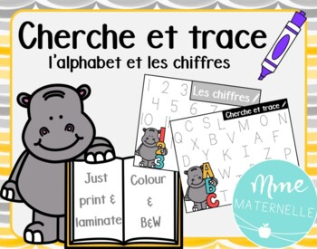 FRENCH** Letter and Number Tracing Mats