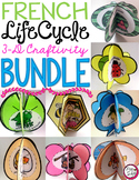 FRENCH Life Cycle Crafts BUNDLE