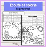 FRENCH Listen and Colour! Printemps Compréhension orale Éc