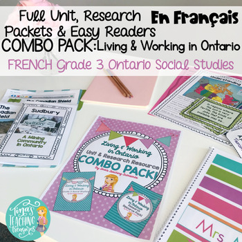 FRENCH Living and Working in Ontario Unit & FRENCH Research Resource Combo Pack!