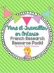 FRENCH Living and Working in Ontario Unit & Research Resource Combo Pack BUNDLE