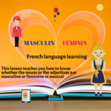 FRENCH MASCULINE AND FEMININE FOR NOUNS AND ADJECTIVES