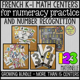 FRENCH MATH CENTERS FOR NUMBER PRACTICE & RECOGNITION (MATERNELLE / K-1)