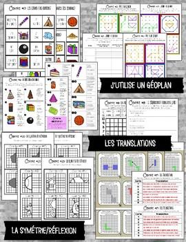 FRENCH MATH CENTERS - GEOMETRY/LA GÉOMÉTRIE (GRADE 3)