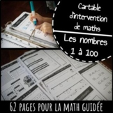 FRENCH MATH cartable d'intervention binder - worksheets NO prep. Nombres 1 a 100