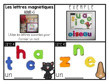 FRENCH MORNING TUBS ACTIVITIES AND CENTERS - TRAVAIL DU MATIN - MAGNETIC LETTERS
