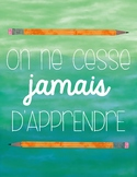 FRENCH MOTIVATIONAL POSTER - FREEBIE (AFFICHE)