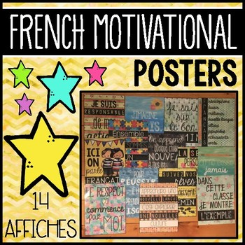 FRENCH MOTIVATIONAL POSTERS BUNDLE - GROWTH MINDSET (14 AFFICHES)