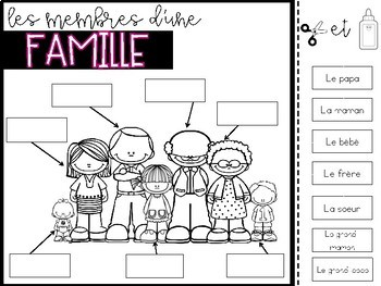 FRENCH Ma famille Unit: Learning About Families