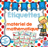 FRENCH Manipulative Labels /Étiquettes du matériel mathématique