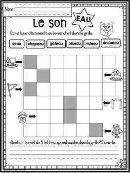 FRENCH March Worksheets/ Cahier d'activités de mars