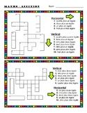 FRENCH Math Numbers (1-10) Four Crosswords/ Mots-croisés- français