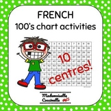 FRENCH Math Centres - Numbers 1-100 activities - 100's cha
