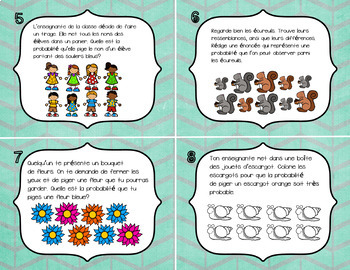 FRENCH Math Game Cards