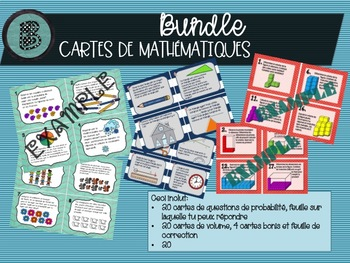 FRENCH BUNDLE Math Game Cards