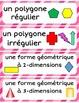 FRENCH Math Word Wall Labels - Geometry / La géometrie