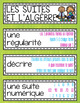 FRENCH Math Word Wall Labels - Patterning and Algebra / Le