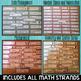 FRENCH Math Word Wall BUNDLE (ALL Math Units) - Vocabulaire de Maths (152 mots)