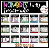 FRENCH Mega Bundle Numbers 1-10/ Ensemble ultime - Nombres 1-10