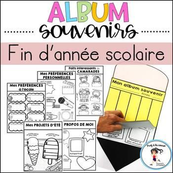 FRENCH Memory Book/Album souvenirs-Fin d'année