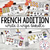 FRENCH Missing Addend Math Centre - Full Year Bundle (Addition en français)