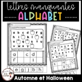 FRENCH Missing Alphabet-Fall / Lettres manquantes - Automne