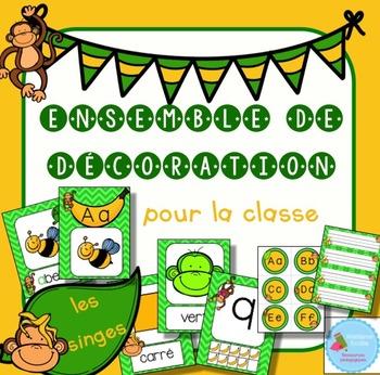 FRENCH Monkey Decor Pack/ Ensemble d