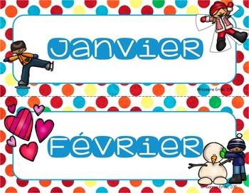 FRENCH Months of the year/ Les mois de l'année