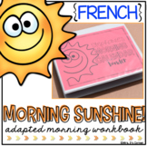 FRENCH Morning Adapted Work Binder (for Special Needs)