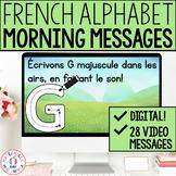 FRENCH Morning Messages - Messages du matin (alphabet) - D