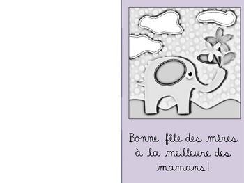 FRENCH Mother's day cards / Cartes Fête des mères