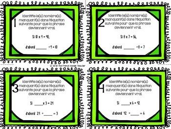 Cartes à tâches : la multiplication et la division